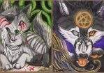 AT WhiteSpiritWolf ACEO 1 and 2 by Crazdude