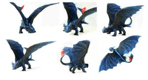 Toothless blue Alpha II by hontor