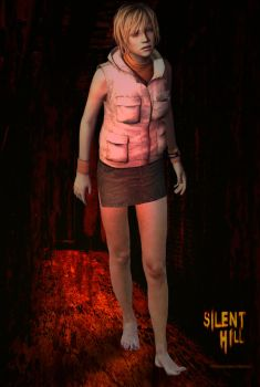 Silent Hill 3 Heather barefoot by storyghost28