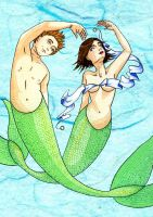 Merpeople Wedding Invite by pollywriggle