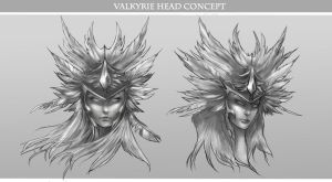 Valkyrie Head Concept by Avasariah
