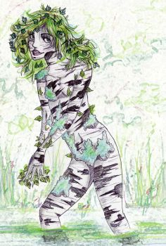 Birch nymph by Ginger-Wolfy
