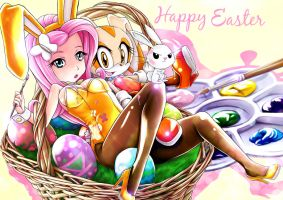 Fluttershy and Cream Easter by skyshek