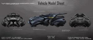 Futuristic KL Cop's Vehicle Model Sheet by leonwoon