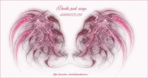 double flame wings by priesteres-stock