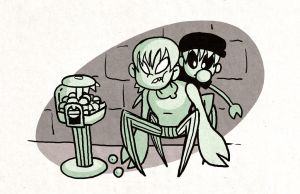 Gum and Glass Snack Attack by rayne-gallows