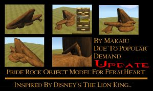 Pride Rock Object For FeralHeart *Updated* by Makaiu