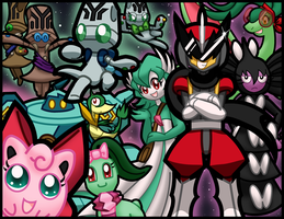 PMD-E: Team Pecha, Paion, and Nighty Knights by Amy-the-Jigglypuff