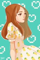 Pineapple dress by Ieafy