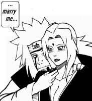 Jiraya Tsunade Marry me by Ellychan88