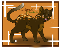 Oakpetal of Thunderclan by PureRubyDragon