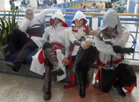 Metrocon 2012: Assassin's Creed - Bench by Cynuyasha