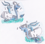 Caesar and Pepe learning Round by Laylie-Chan