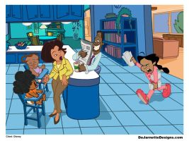The Proud Family: Junk Mailman panel enlarged by DeJarnette