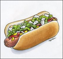All-American Hot Dog by M-Everham
