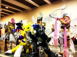 Digimon Gathering by SephieUchiha