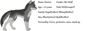 Oneiroi Reference Sheet by GiggleKittyx3
