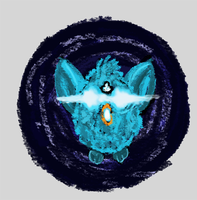 The World's End Furby Button by Shinyako