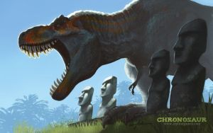 Chronosaur wallpaper - Easter Island Rampage by rah-bop