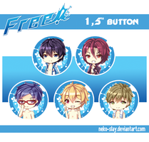 Free! - 1,5 inch button by Neko-Slay