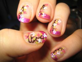 Cherry Blossom Nails by verona9
