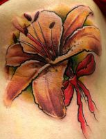 Impressionistic Lily by Tibor Galiger @ Dublin Ink by DublinInk