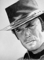 Portrait of Clint Eastwood by jonathan-hillmer