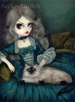 Princess with a Himalayan Cat by jasminetoad