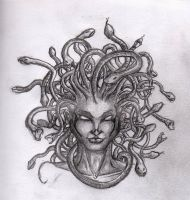 Medusa Tattoo Design by justchrishere