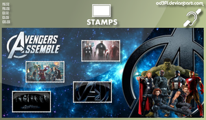 Stamps - 2012 - Avengers Assemble by od3f1