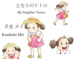 My neighbor Totoro - Mei - colored by Dacara