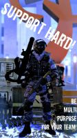 SUPPORT HARD by GlayMan