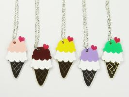 Ice-Cream Silver Necklace by SweetandCo