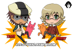 Keychains- Tiger and Bunny by Yuuhiko