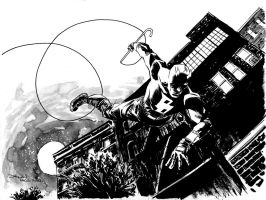 Daredevil Swinging by DeclanShalvey
