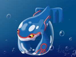 bubble Kyogre by Kath-the-shadow