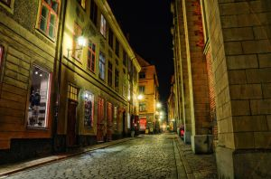 Old Town by Night VIII by HenrikSundholm