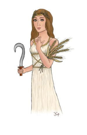 Goddess Demeter  first tablet try