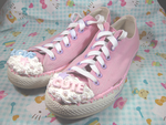 Love Cute Decoden Sneakers by Cupcake-Kitty-chan