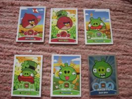 Angry birds trading cards by Twilightberry