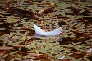 Paper boat by cezare-me