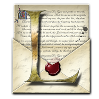 Steampunk L Open Envelope Icon by yereverluvinuncleber