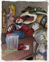 mushroom kingdom bar by mirror2rorrim