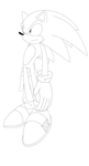 Sonic Sth 06 Style Side Pose Scetch by Tru-sonic-t-h-50413