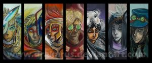 Portraits - Bookmarks by Drakarus