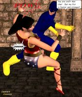 Wonder Girl Knockout by CaptainZammo