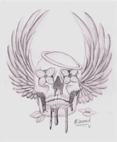 Angel Skull by Misty-Mutt