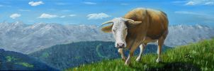 Divine bovine by Abuttonpress2Nothing