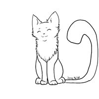 free line art cat by jenny96ist