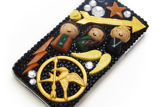Hunger Games Decoden iPhone Case by dimeycakes